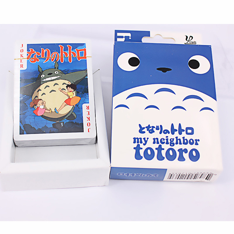 Totoro Playing Cards Cartoon Cards Funny Board Game