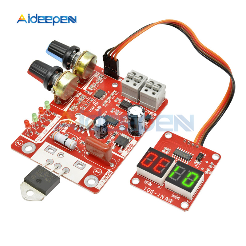 40A /100A Spot Welding Machine Control Board Welder Transformer Controller Board Timing Current Time Current Digital Display