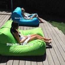 Swimline Sunsoft Chaise, Lime and aqua blue , large Giant beanbag chair