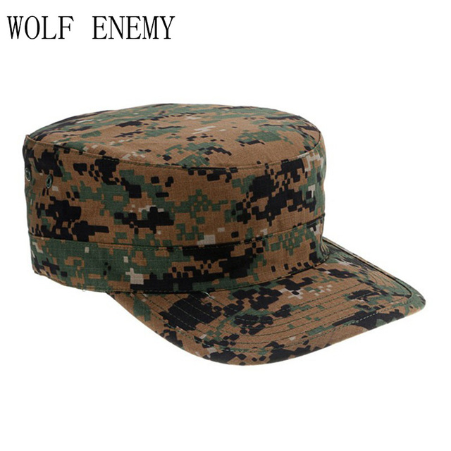 Desert German Digital Woodland Black ACU Forest Camo Camouflage Military  Army Hunting Tactical Cap Caps Hat Hot Selling 883cdd1c7358