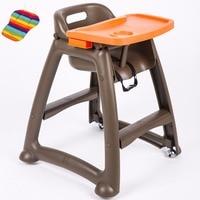 Детский стульчик для столовой, детский стульчик с регулируемым лоток, можно использовать дома или отель кормить ребенка стул с колесами