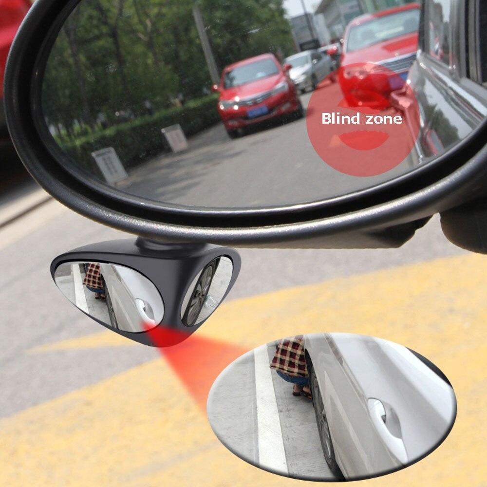 360 Degree Rotatable 2 Side Car Blind Spot Convex Mirror