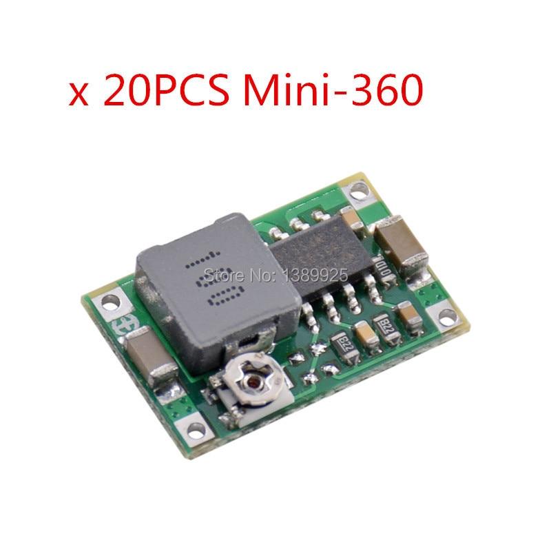 20PCS Mini360 Mini-360 Model Step-down Power Module DC DC Low Power Module Vehicle Power Supply - Better Than LM2596