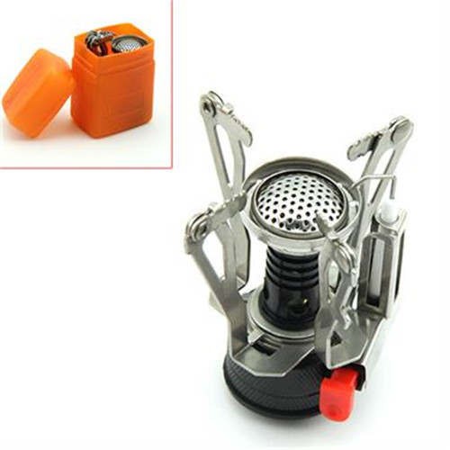 Outdoor Picnic Burners Stove Camping Gas Stove Portable Folding Mini Burners Stoves New Super Lightweight With Box Hot Sale