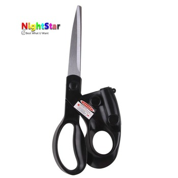 2019 Popular New Professional Laser Guided Scissors For home Crafts Wrapping Gifts Fabric Sewing Cut Straight Fast Scissor Shear