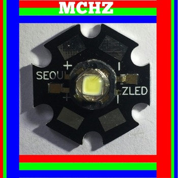 1PCS SEOUL POWER CREE XML XM-L T6 LED U2 3W WHITE High Power LED chip on 20mm PCB 3 pcs cree xlamp xm l xml rgbw rgb white or rgb warm white color high power led emitter 4 chip 20mm star pcb board