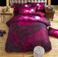 Bedspread Nebala Outer Space Star Galaxy Bedding Set 3 4 Pcs Polyester Flat Sheet Duvet Cove