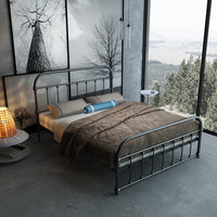 Европейский стиль восстановление древних способов Железный арт кровать 1,5 м 1,8 м контракт двуспальная кровать 1,2 м одинарная железная рама к
