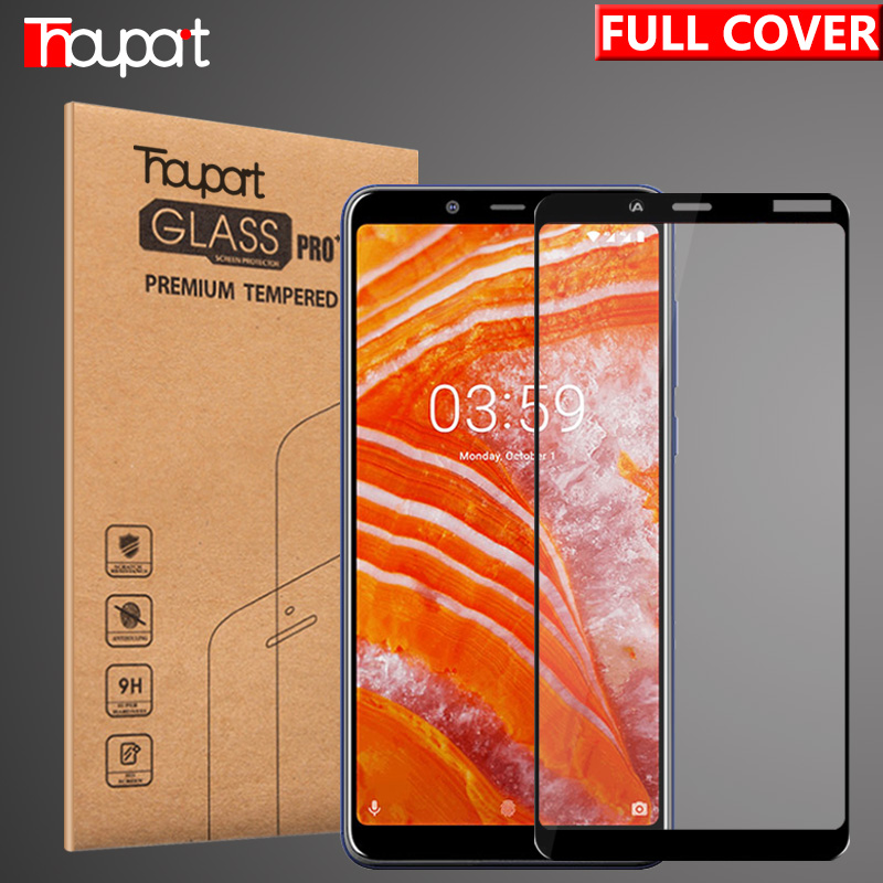 Tempered Glass For Nokia 3 Screen Protector Protective Film Glass For Nokia 3.1 Plus / X3 Display Full Cover Glass Color Frame