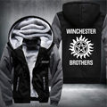 Free Shipping USA size Men Women Supernatural Thicken Jacket Hoodie Sweatshirts Coat Clothing Casual