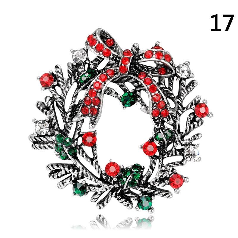 Stylish Brooches Christmas Jewelry Xmas Tree Santa Boots Snowman Brooch Party Brooch Pin -MX8