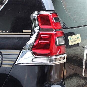 ABS хром для Toyota Prado FJ150 2018, аксессуары, автомобильные задние фонари, задние лампы, декоративная рамка, накладка, Стайлинг автомобиля, 2 шт.