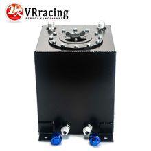 VR RACING-BLACK 10L Aluminium Fuel Surge tank Fuel cell  w/o sensor foam inside VR-TK13BK