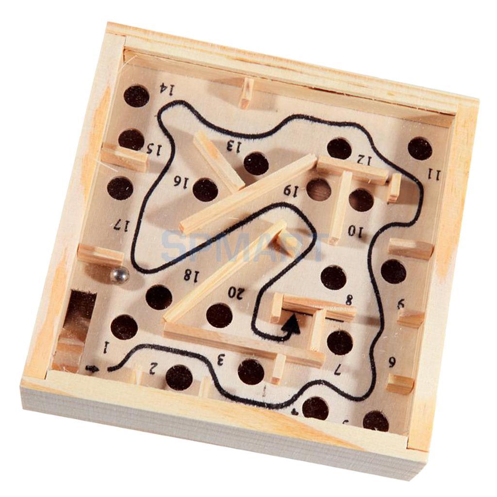 Balance Board Maze Game: Wood Labyrinth Puzzle Balance Board Bead Maze Game Small