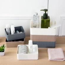 1PCS Creative Plastic Multifunctional Desktop Storage Box Small Square Cosmetic Finishing Case Bathroom Office Kitchen Organizer