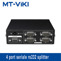 MT viki splitter Bidirectional Transmission DB9 4 Port Serial Splitter 1 in 4 out RS232 splitter Support MT RS104