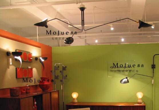 Modern Home Decoration 3 Head Living Room Serge Mouille Ceiling Light Bedroom Duckbilled Dining