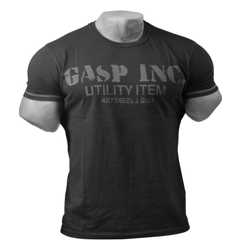 2018 zomer nieuwe fitness heren fitness fitness katoenen T-shirt - Herenkleding