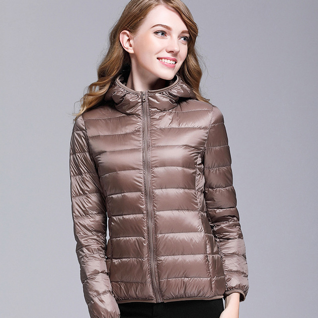 GODLIKE  2017pure color ladies trendy winter coat/fashionable casual down jacket/Pure color, lightweight down jacket 2