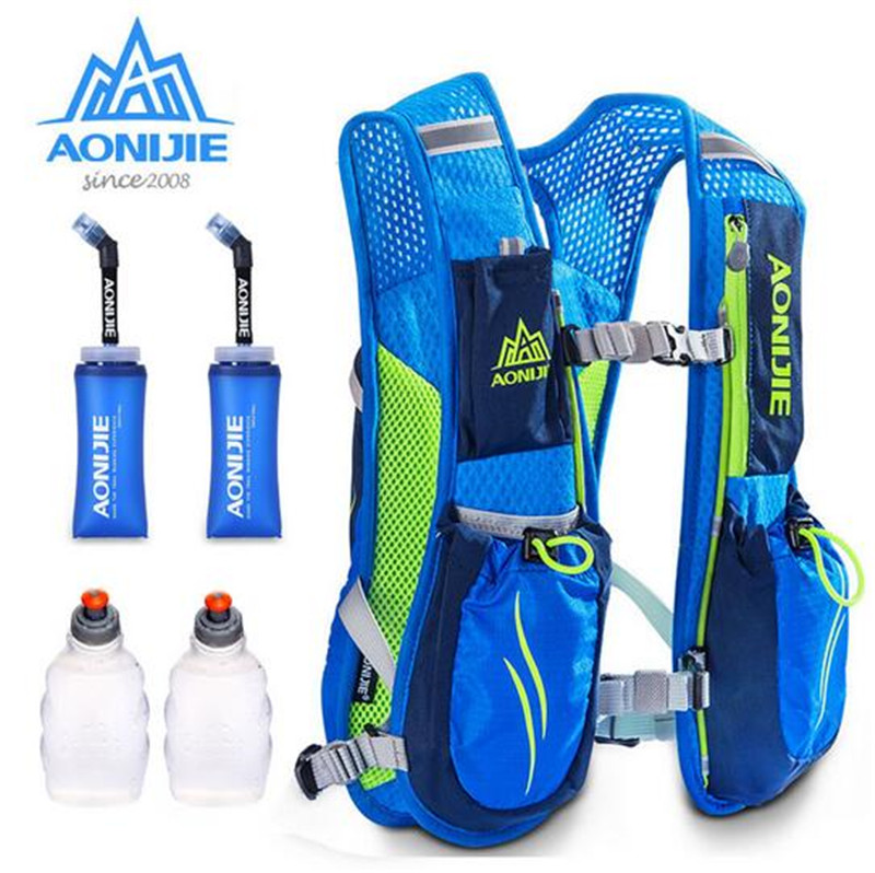 AONIJIE Running Marathon Hydration Nylon 5 5L Outdoor Running Bags Hiking Backpack Vest Marathon Cycling Backpack