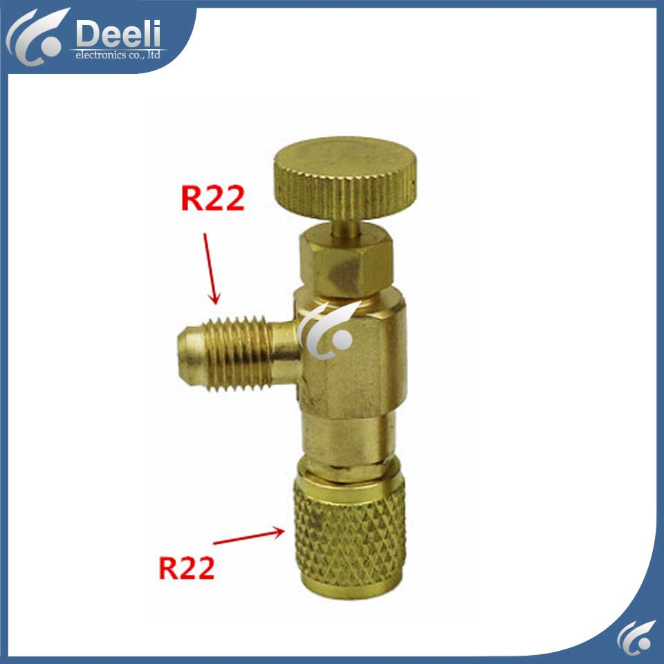 2pcs/lot new Air Refrigeration Charging Adapter refrigerant retention control valve Air conditioning charging valve R22 1/4 hs 1221 hs 1222 r410a refrigeration charging adapter refrigerant retention control valve air conditioning charging valve