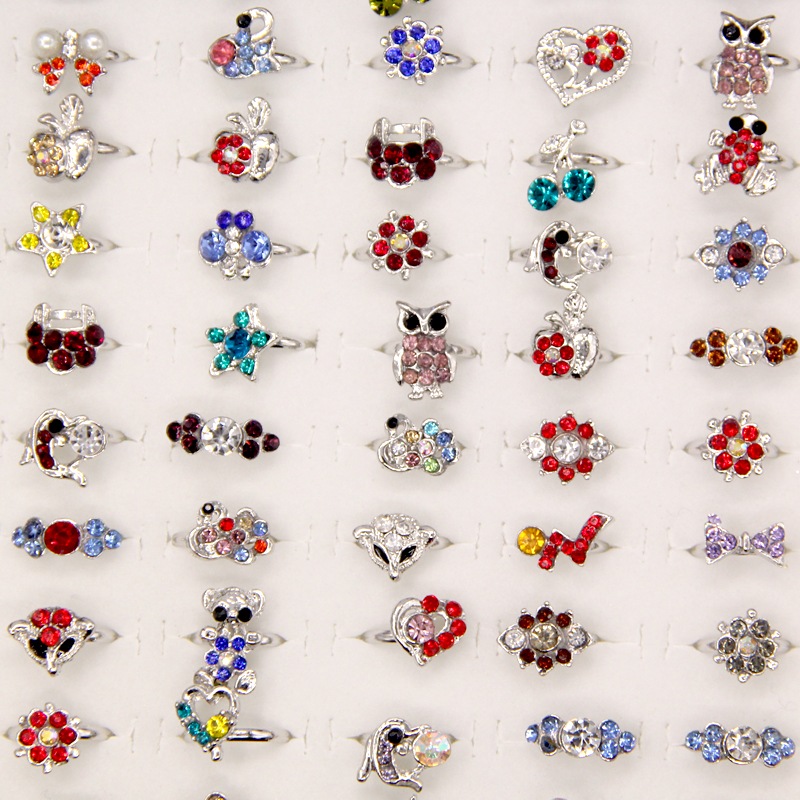 Wholesale Lot 20pcs Silver Plated Assorted Design Cute Kid
