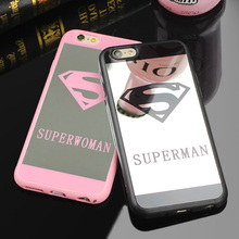 Superman Mirror Surface Case For iPhone X 7 Plus 5s SE