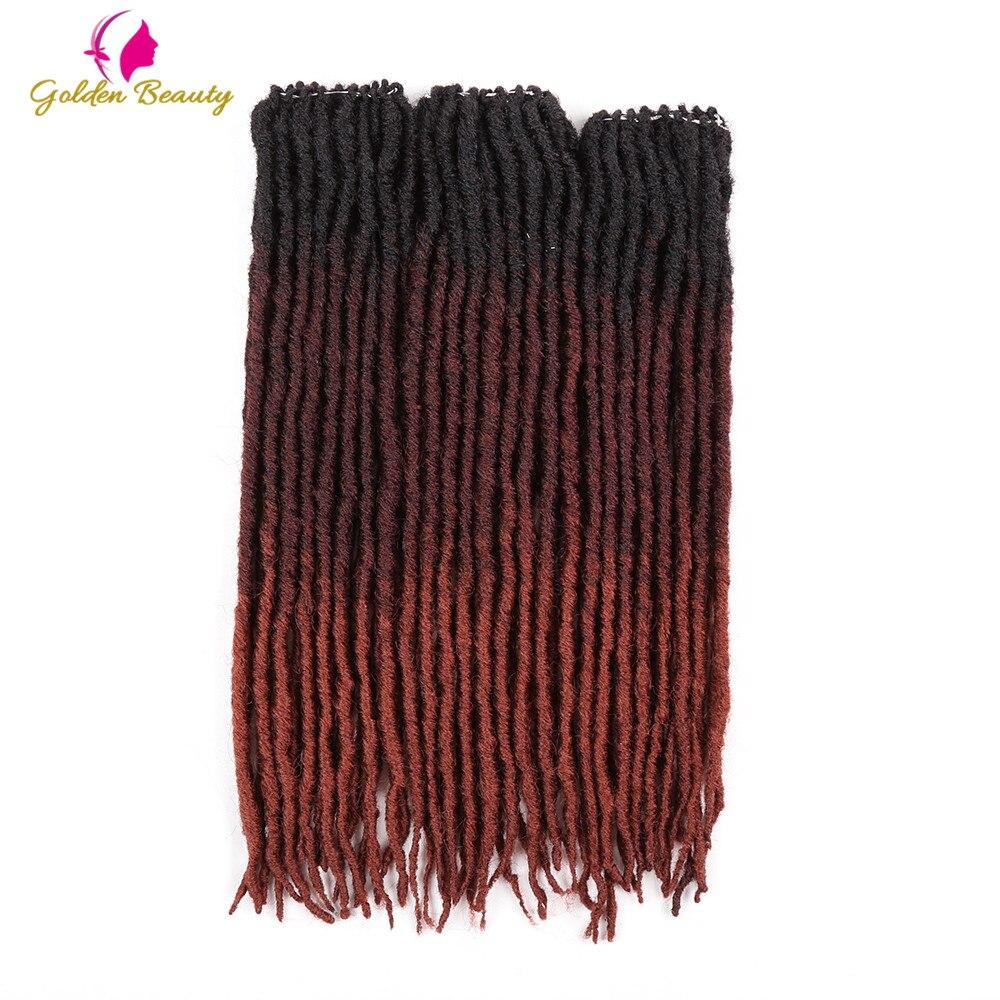 Golden Beauty 18inch Goddess Locs Crochet Braids Crochet Hair Extensions Faux Locs Straight Synthetic Braiding Hair Dread Styles