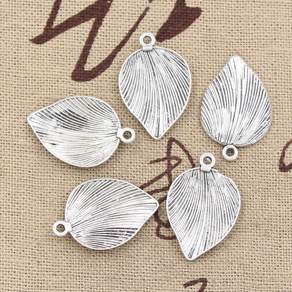 10pcs Charms Leaf 23x15mm Antique Making Pendant Fit,Vintage Tibetan Silver,DIY Handmade Jewelry