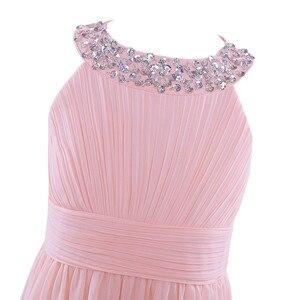 Image 5 - 2020 新着夏のフラワーガールのドレス王女の誕生日ページェント初聖体シフォンパーティーロングマキシドレス