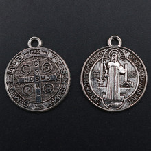 WKOUD Medal Pendant, Catholic Pendant Unisex, Saint Blessing Necklace, Christian Jewelry, DIY Handmade Metal Charm