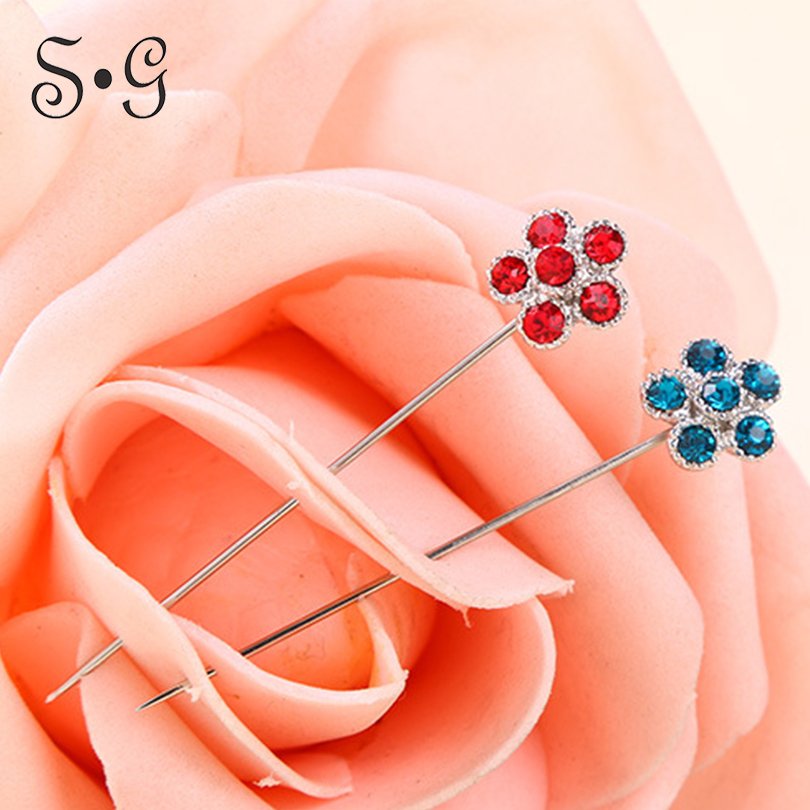 6 pairs/pack plum flower shape Pin Women Safety Scarf Women's Scarf Buckles