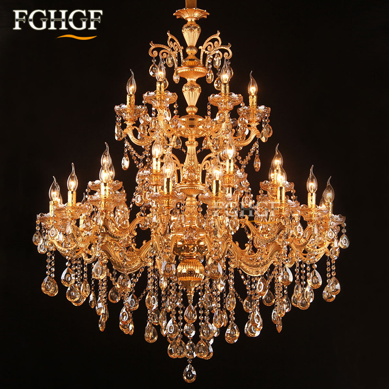Large foyer modern chandelier Stair Long candle crystal chandelier Fixture Staircase lighting Mounted Living Room Restaurant