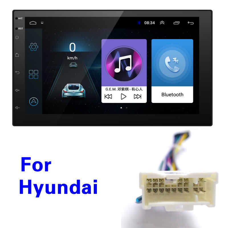 FEELDO 7 inch Ultra Slim Android 8 1 Quad Core Car Media Player With GPS Navi