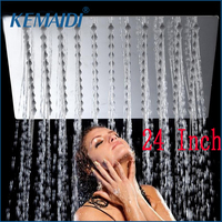 Kemaidi 24 дюйм(ов) топ спрей Насадки для душа хром осадков над головой стирка Для ванной настенные площади Стиль латунный душ