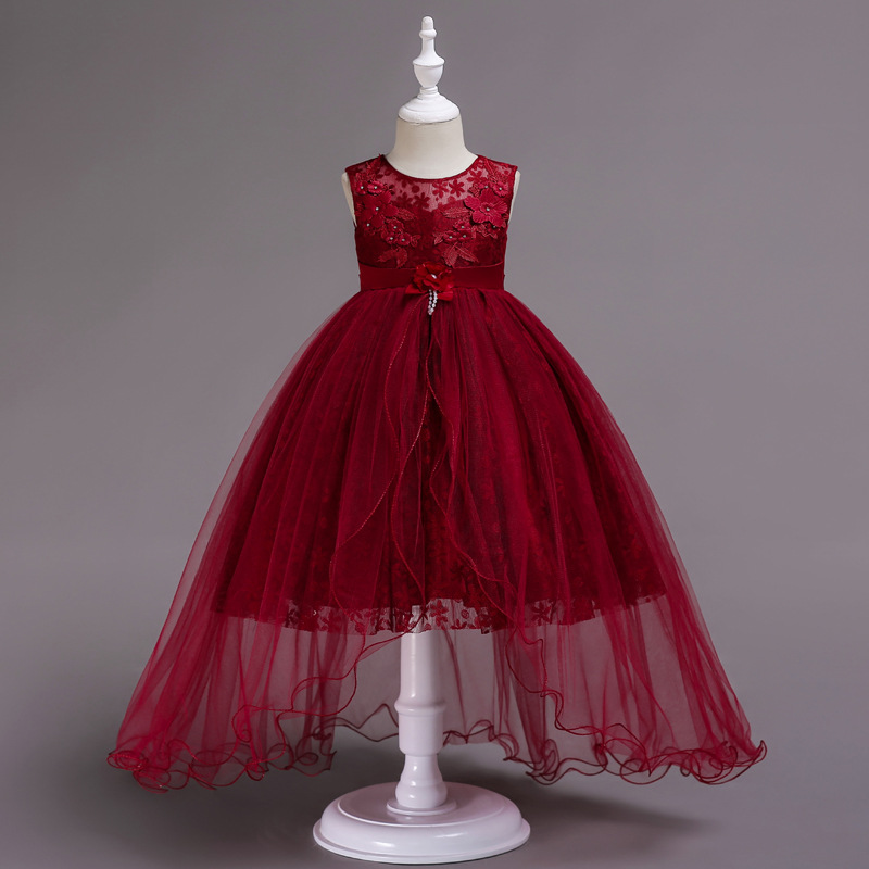b403303cbbb65 Baby girl dress Girl Lace flowers Formal Teenage Party Dresses Baby Girl  Clothes Kids Toddler Girl