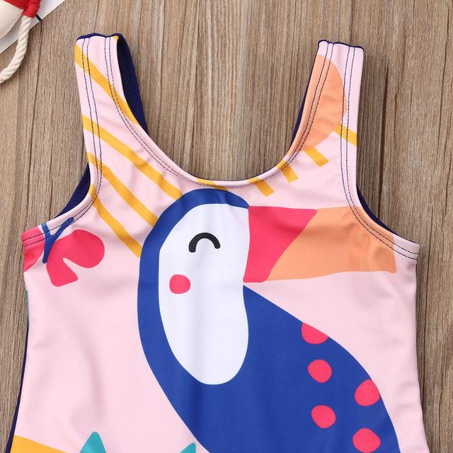 0-5T Kids One-piece Swimsuit Toddler Kids Baby Girls Cartoon Bikini Swimwear Swimsuits Bathing Suit Beachwear 20