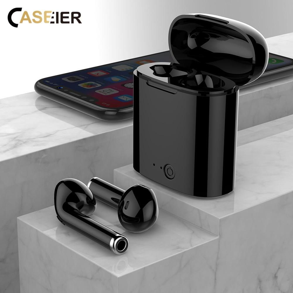 CASEIER I7S Wireless Bluetooth Kopfhörer Headset Lade Box i7S Auriculares bluetooth inalambrico écouteur sans fil Bluetooth