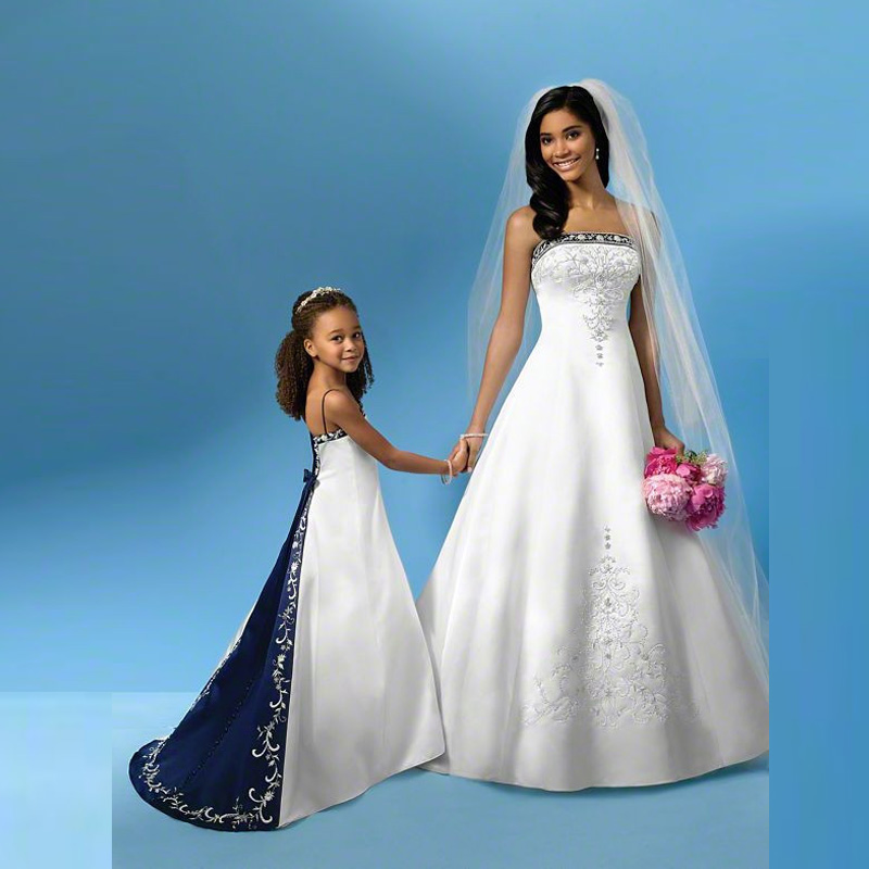 popular blue and white wedding dressesbuy cheap blue and