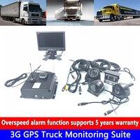 4-sistema de canais HD 256G cartão SD suporta até 1 2 TB disco rígido 3G GPS kit de monitoramento de caminhão de bombeiros caminhão/táxi/carro de passageiro