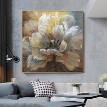 % 100% el boyalı soyut çiçek sanat yağlıboya tuval duvar sanatı çerçevesiz resim dekorasyon canlı oda için ev dekor hediye