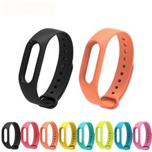 For Xiaomi mi band 2 Wrist Strap Belt Silicone Colorful Wristband for Mi Band 2 Smart Bracelet for Xiaomi Band 2 Accessories(China)