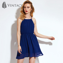 Vintacy 2017 новые поступления синий Женская летняя обувь линии платье повседневные открытые женские модельные весенние женские Вечернее платье Офис спинки пикантные
