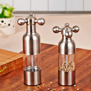 Image 5 - 1PC Stainless Steel Tap Grinder Manual Salt Pepper Mill Spice Sauce Grinder Silver Mill Tap Mills Home Use KC1504