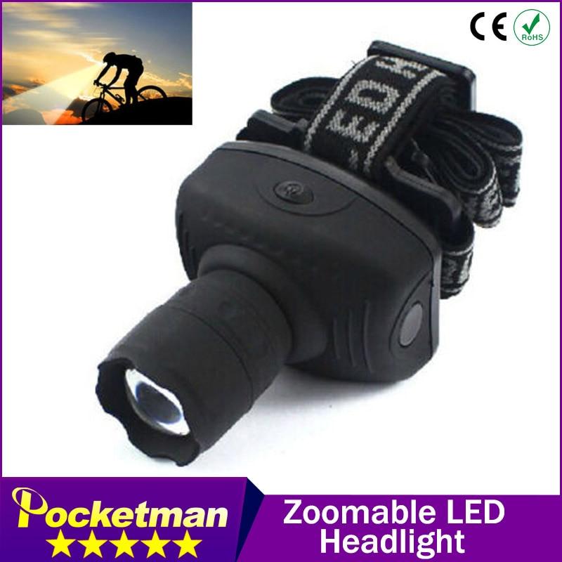 600 Lumen LED lampe de poche frontale lanterne Durable Zoomable tête torche lumière vélo équitation lampe pour Camping chasse