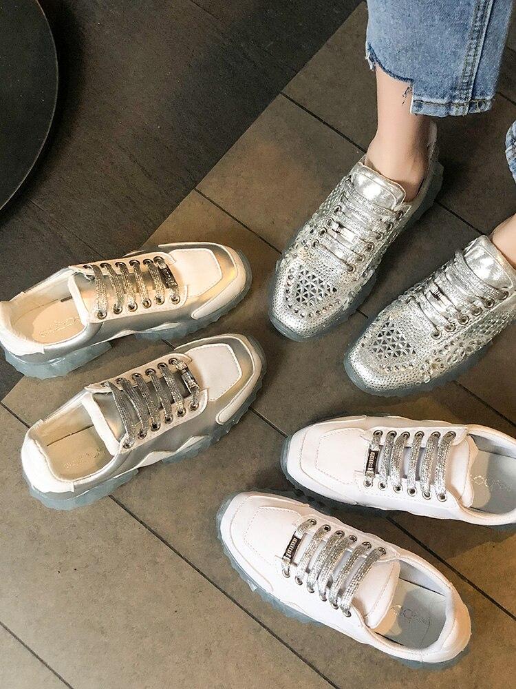 Padre De Chaussures Baitao 2 Ins Trasparente Del 3 Mujer Donna Piso Femme Primavera Di Da Scarpe Zapatos 2019 Il Cristallo Libero Per Nuovo 4 Tempo Diamante 1 xCw00q