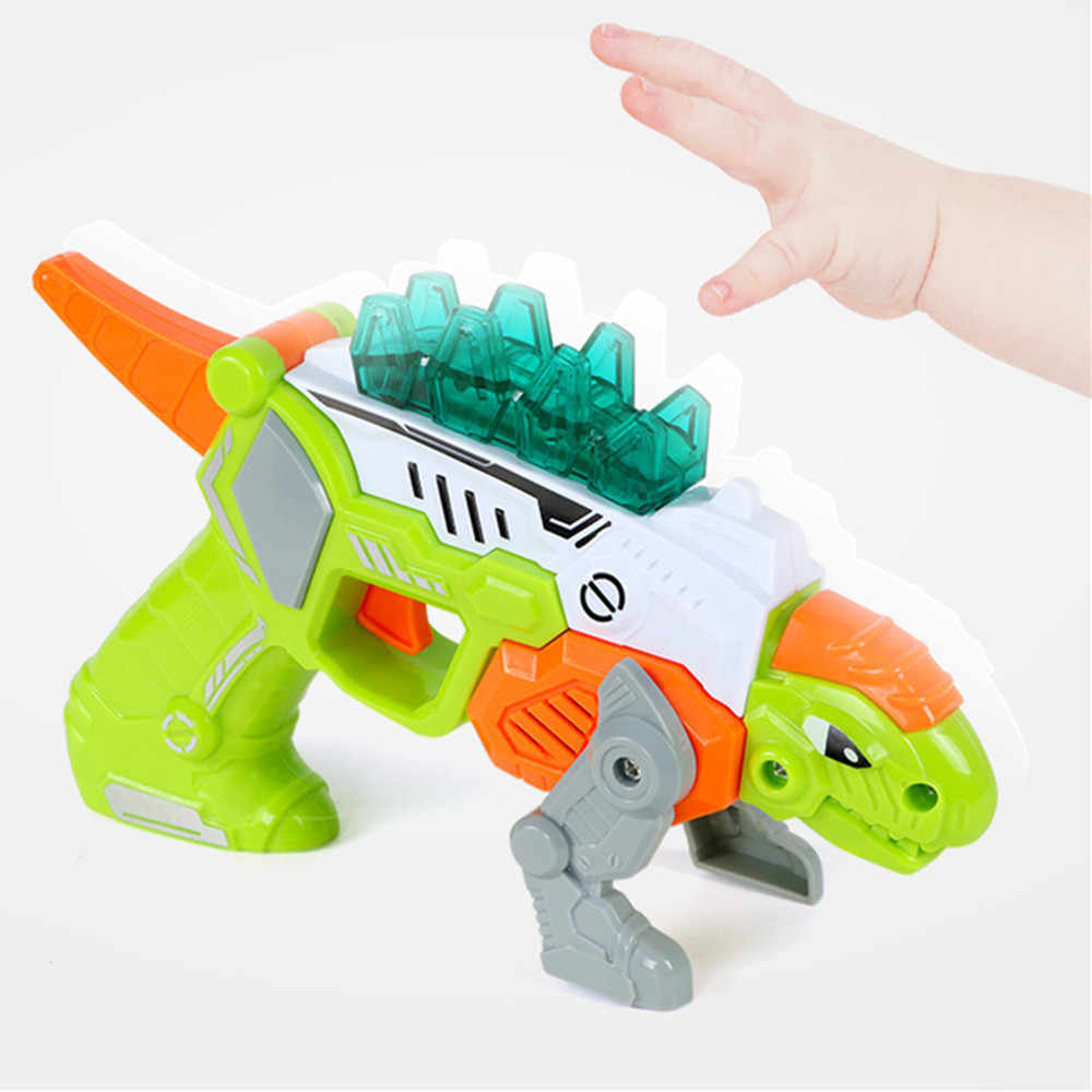 Dinosaur toy deformation Pistol Dinosaur set skeleton Model Children Electric Kids Outdoor Game Boy gift figurines D300115
