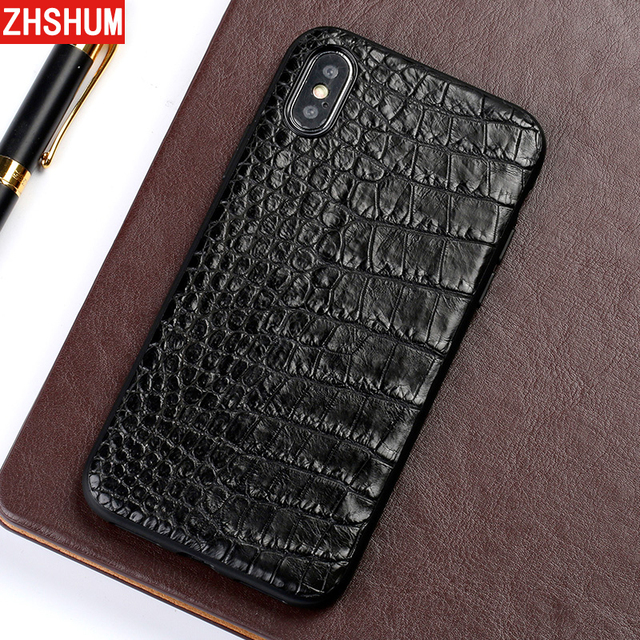 Genuine Crocodile Leather Case For Iphone X 8 Plus 7 XS