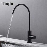 Water purifier tap swivel faucet Black Sink Faucet single Cold kitchen faucet kitchen sink mixer tap torneira cozinha