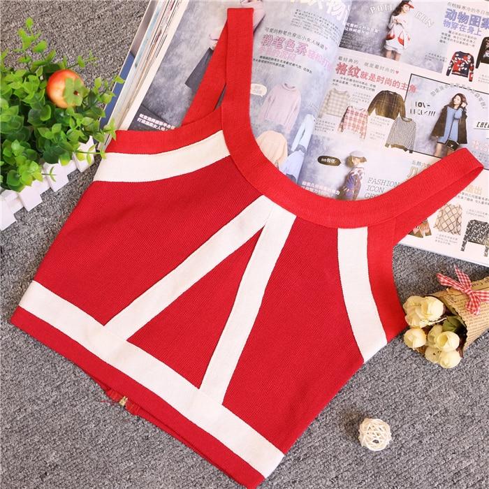 Zomer Dames Mode Slanke Knitting Tank Crop Tops Dames Bodycon - Dameskleding - Foto 5